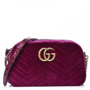 Gucci GG Marmot Velvet Crossbody Bag, Brand New